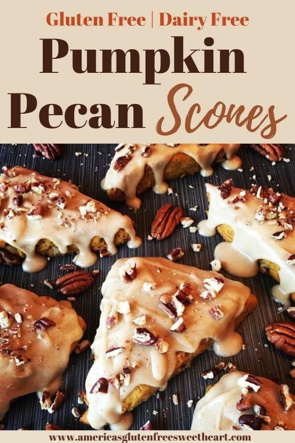 Pumpkin pecan scones in triangles