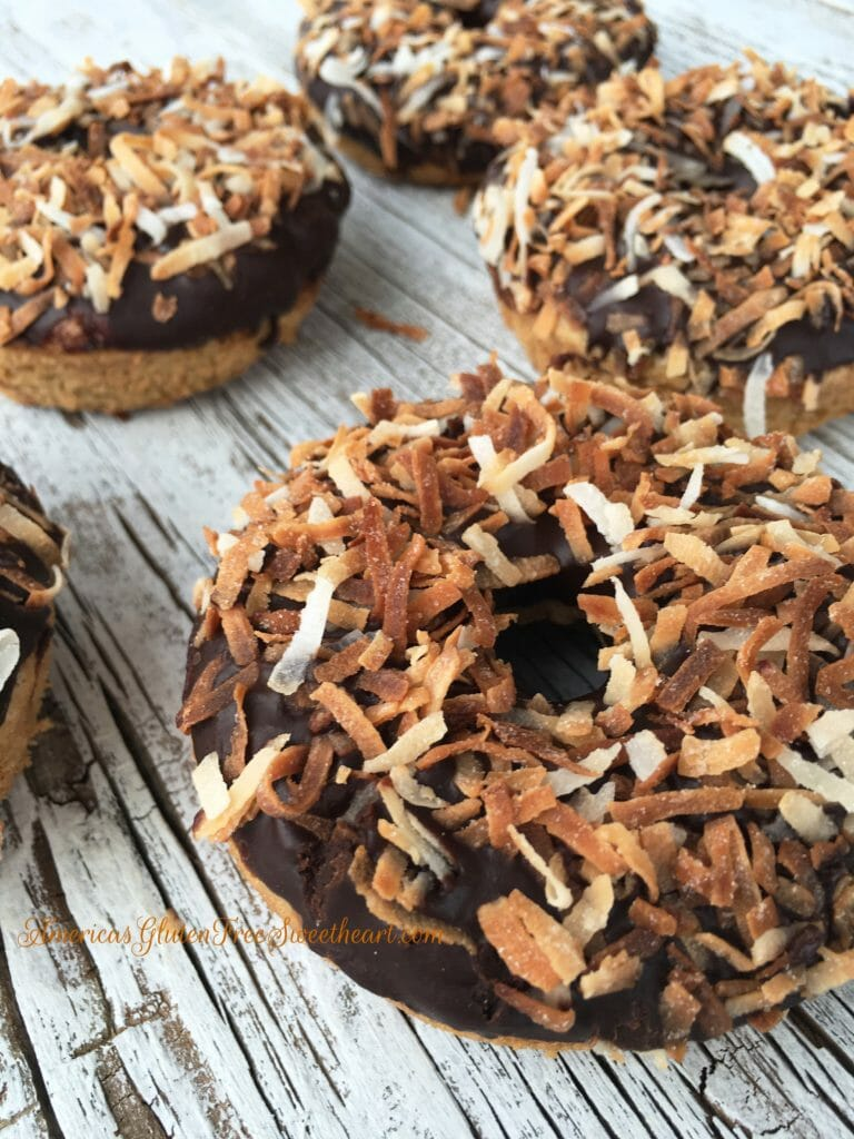 Chocolate Toasted Coconut Donut's