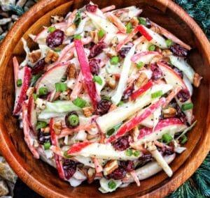 Apple Cranberry Pecan Coleslaw