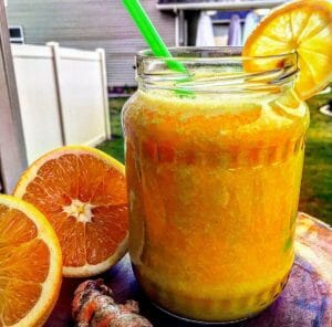 Orange Ginger Tumeric Wellness Tonic