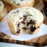 Gluten Free Dark Chocolate Chip Oat Bakery Style Muffins