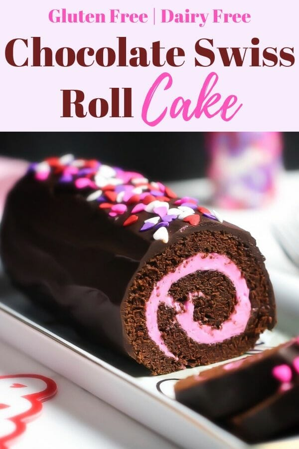 Chocolate Swiss Roll Cake Sliced - Gluten Free