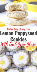 Gluten Free Lemon Poppyseed Cookies with Earl Grey Glaze