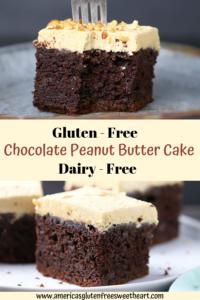 Gluten Free Peanut Butter Chocolate Cake