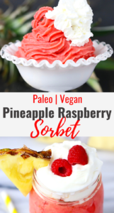 Pineapple Raspberry Sorbet