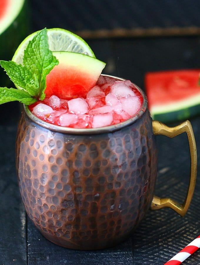 healthy no sugar Watermelon Moscow Mule