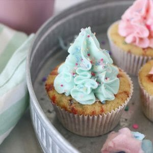 Gluten Free Cotton Candy Cupcakes