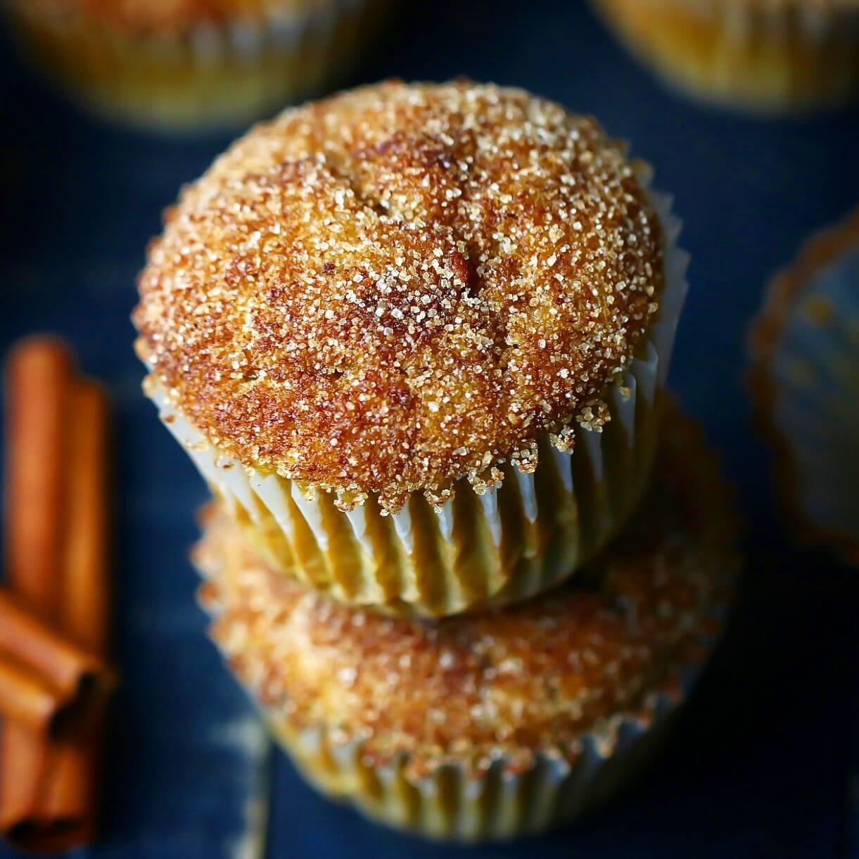 Gluten - Free Pumpkin Snickerdoodle Muffins