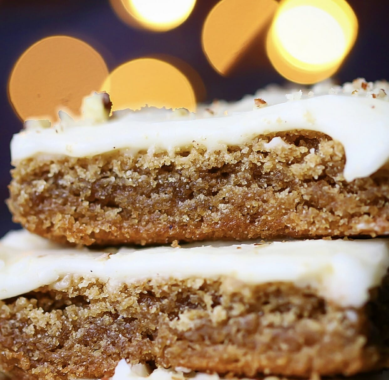 Festive Cinnamon Spice Bars with Sweet Ginger Icing