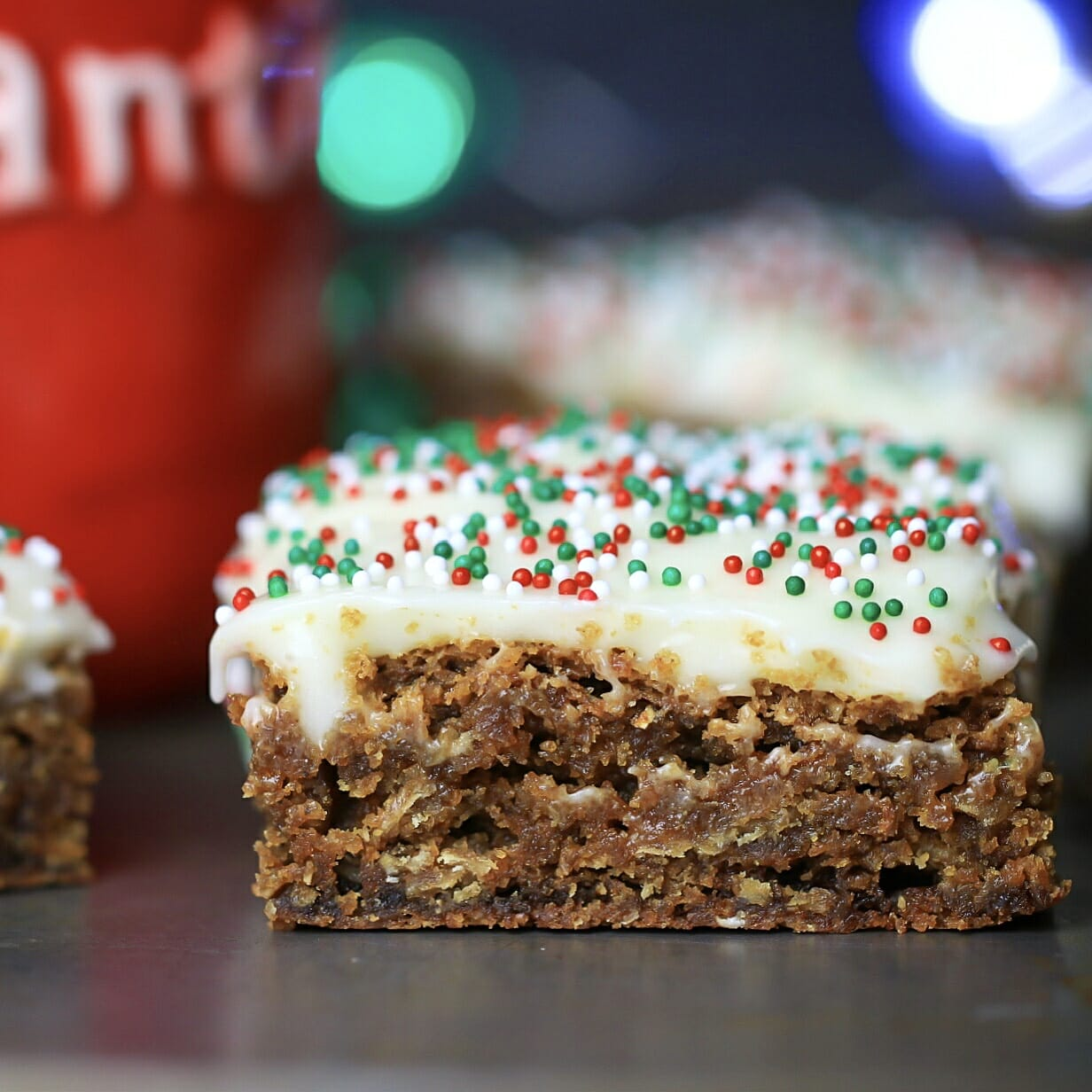 Gingerbread Spice Cookie Bars