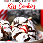 Gluten-Free Chocolate Crinkle Candy Cane Hershey Kiss Cookies
