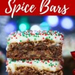 Gingerbread Cookie Spice Bars