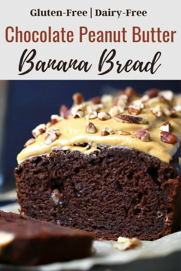 gluten free chocolate peanut butter banana bread recipe.