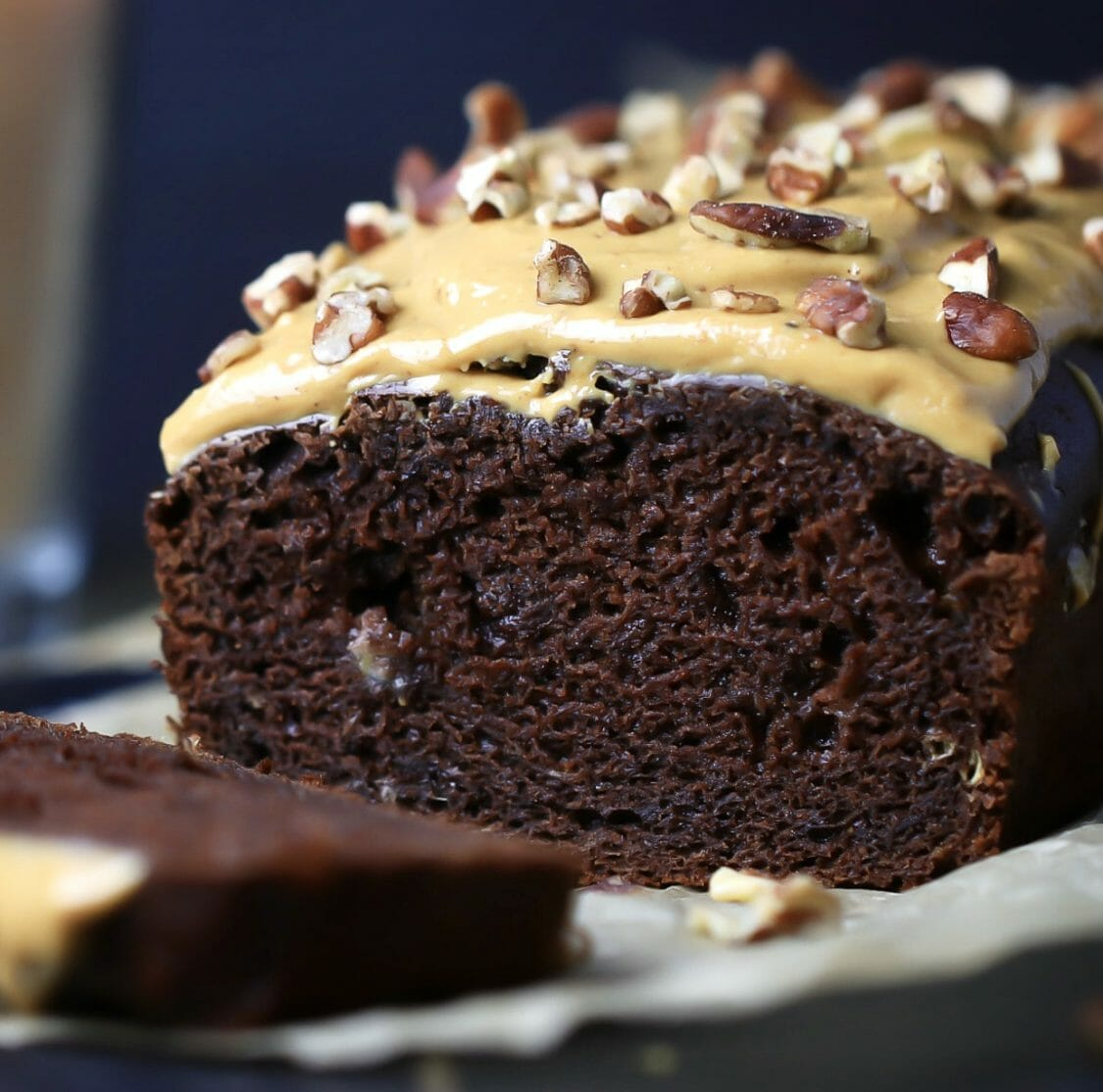Gluten Free Chocolate Peanut Butter Banana Bread