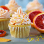 Blood Orange Cupcakes with Blood Orange Frosting