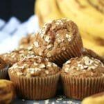 Gluten free and Dairy free Banana Oat Muffins