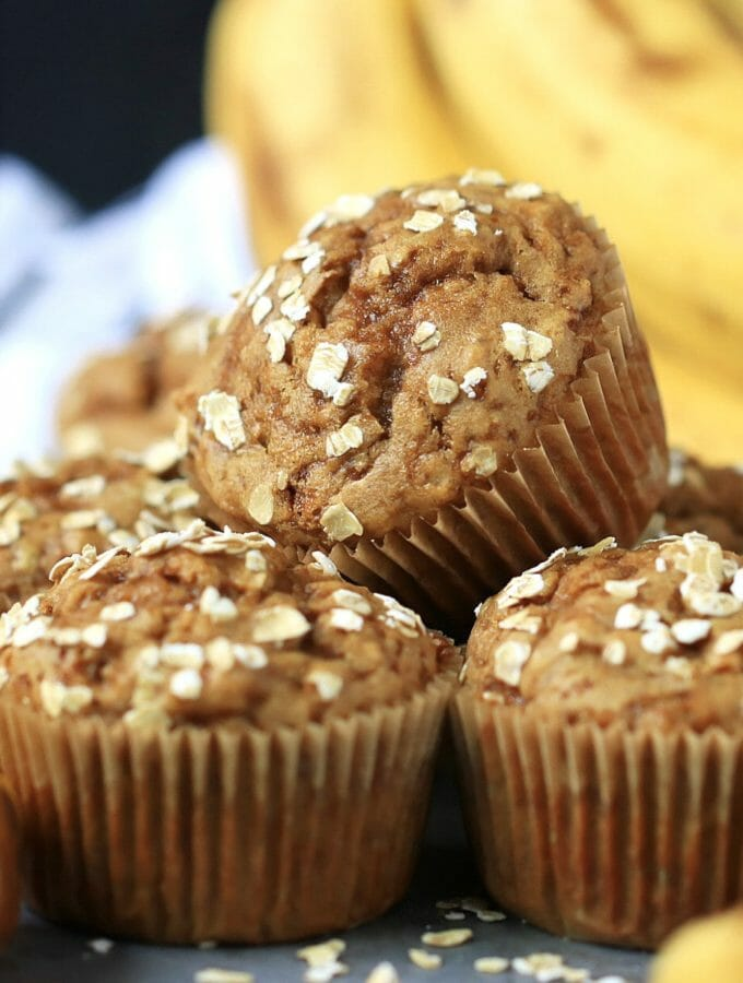 Gluten free and Dairy free Banana Oat Muffins