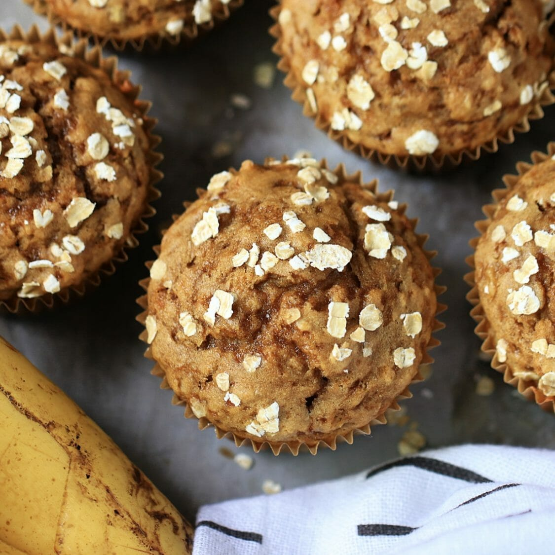 The BEST Banana Oat Muffin recipe