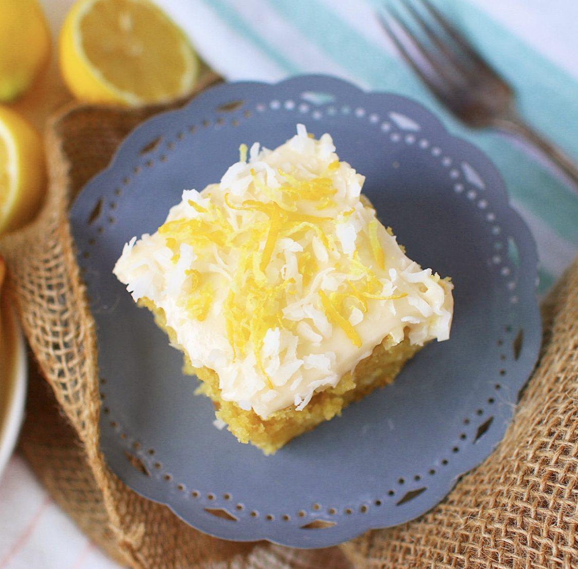 Gluten Free sweet lemon coconut cake