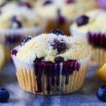 moist blueberry lemon muffin
