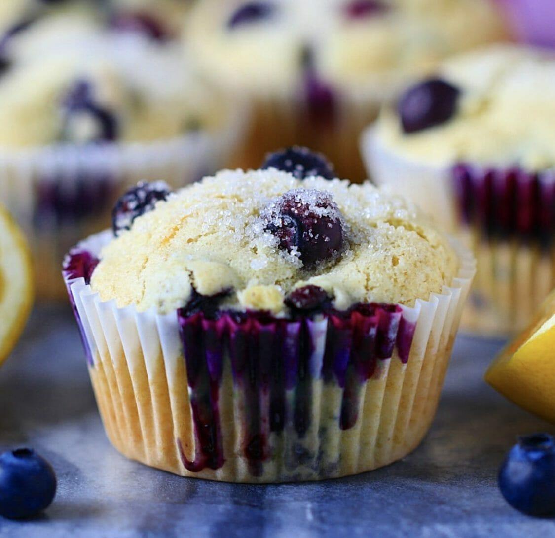 Fluffy blueberry muffin