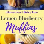 Gluten Free and Dairy Free Lemon Blueberry Muffins