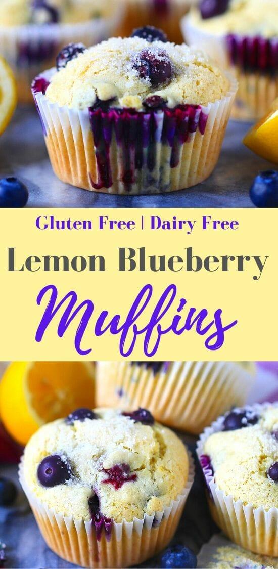 lemon blueberry muffins dairy free