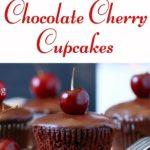 paleo chocolate cupcakes with cherries