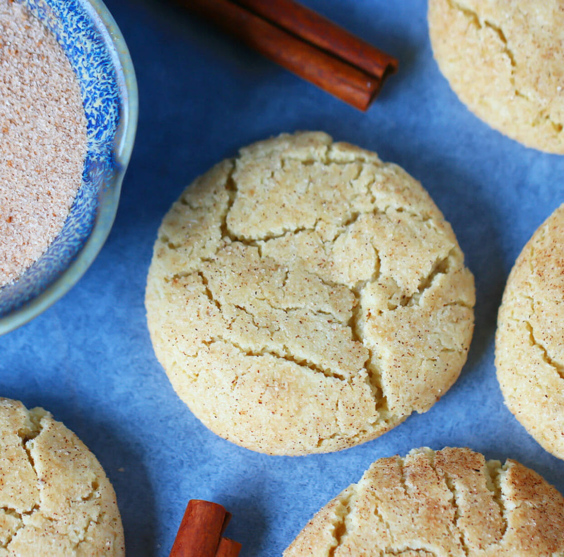 coffee snickerdoodle crisp and chewy