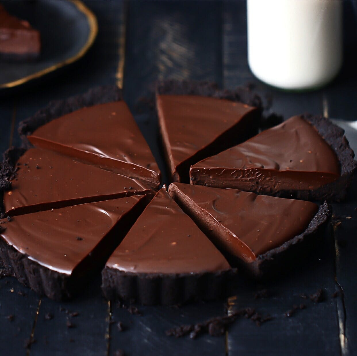 Bailey's Chocolate Tart With Oreo Crust