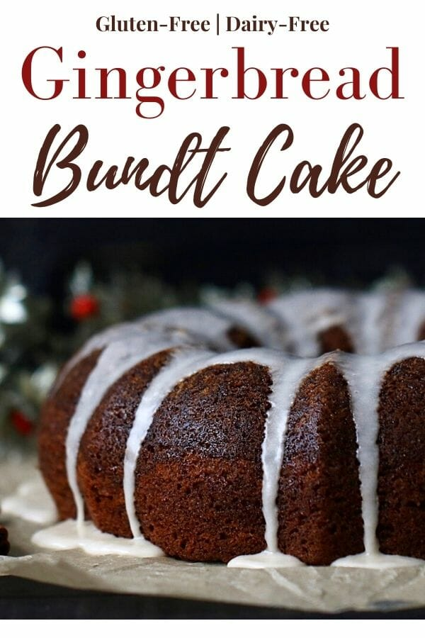 Gingerbread gluten free cake recipe with maple glaze