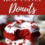 gluten free red velvet donuts with cream cheese glaze