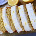 gluten free lemon bread with lemon glaze