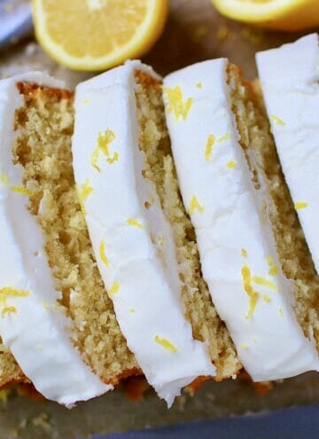 gluten free lemon bread with lemon glaze