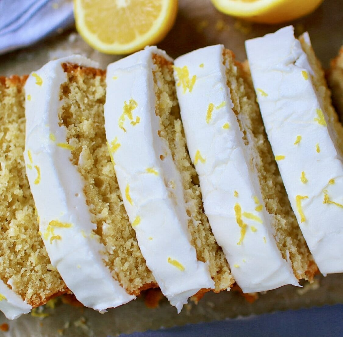 gluten free lemon loaf with lemon glaze